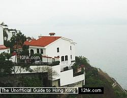 seaview houses in Pok Fu Lam area on Hong Kong Island