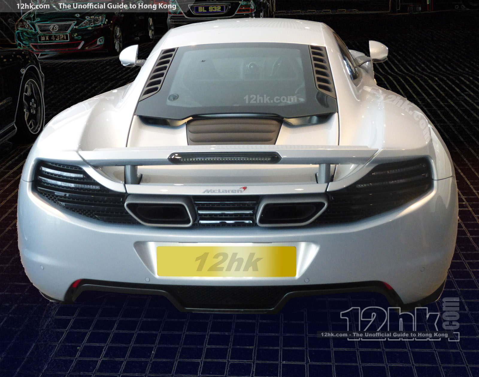 silver McLaren ready to rumble
