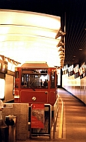 Peak tram inside station