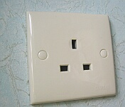 Hong Kong electrical 200-VAC outlet