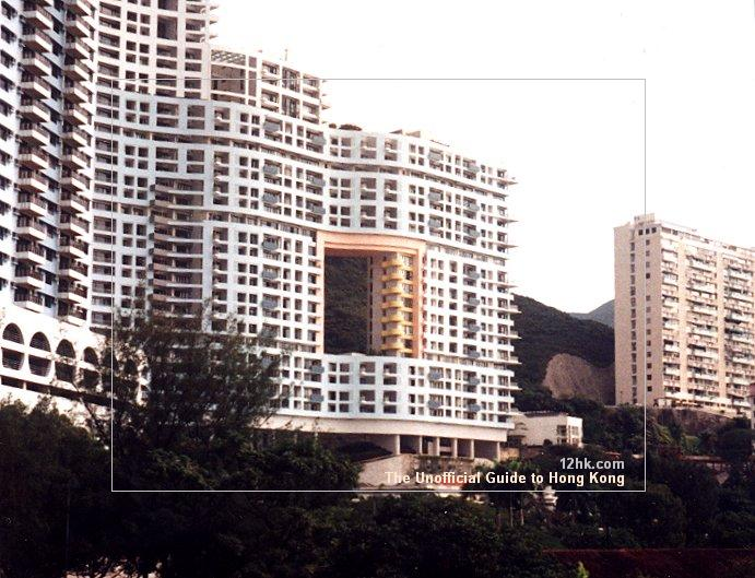 Building with a hole in Repulse Bay, Hong Kong
